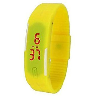 Red LED Digital Yellow Color Watch