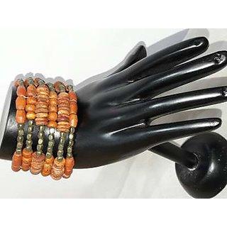 wood en metal bangle