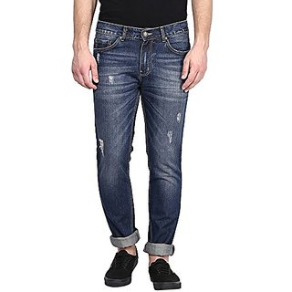 Crew Men's Straight Fit Jeans (Dark Blue)