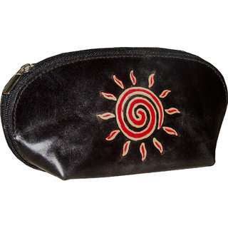 arpera Women's Leather Pouch-610-c11148-b028-black