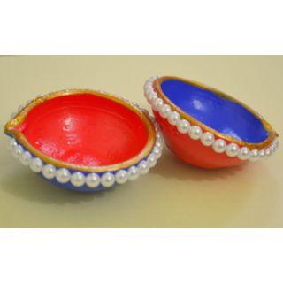 Pearl Finish Diwali Diya.......100... 2 pieces