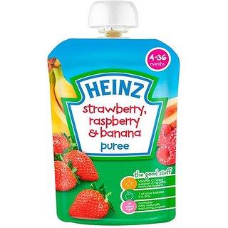 Heinz Strawberry, Rasberry  Banana Puree (4-36m) - 100G