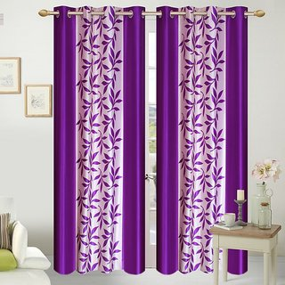 Shopaholic Eyelet Door Curtain Set of 2(CTK2-07)
