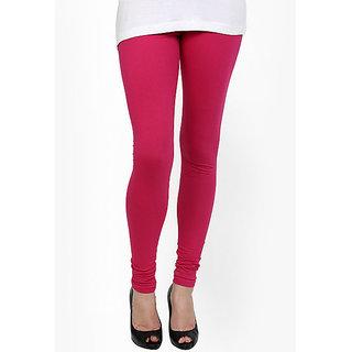 Archy Women Premium Cotton Lycra Legging ( Solid Pink )