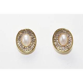 Sparkling Gold Tops With Stones  Pearl