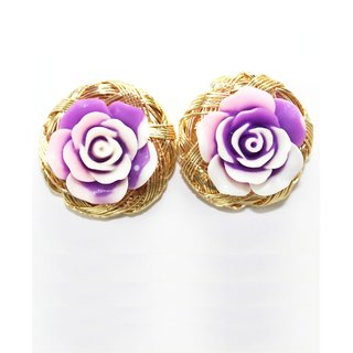 Gold Tone Tops With Flower Embossed On It