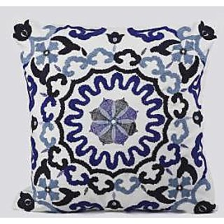 Archy Embroidered Designer Cushion Cover ( size 45 x 45 cms )
