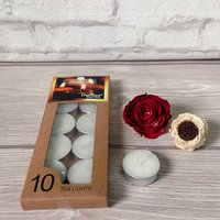 Devinez Unscented  Smokeless Tealight Candles, (Pack Of 10), 4.5 Hour Buring