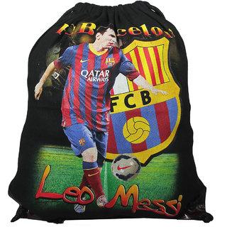 BagsHub Black Leo Messi Printed Backpack (B0635-0001500069-V0012)