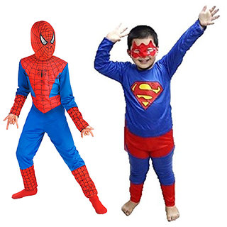 Combo offer of Spiderman + Superman Costume for Kids  B'Day Gift for Boys