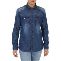 Lawman Pg3 Blue Full Sleeves Casual Shirt For Men