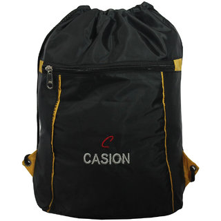 BagsHub Black Drawstring Backpack (B0643-0001500076-V0012)