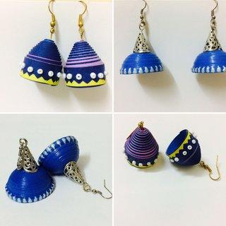 Beautiful eco friendly hand made earrings by Zakeeya V6
