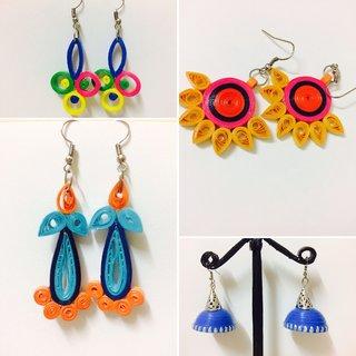 Beautiful eco friendly hand made earrings by Zakeeya V7
