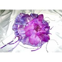 New Brand Fancy Purple Flower Color Hair Clip From Dubai