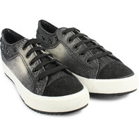 Do Bhai Women Black Sneakers