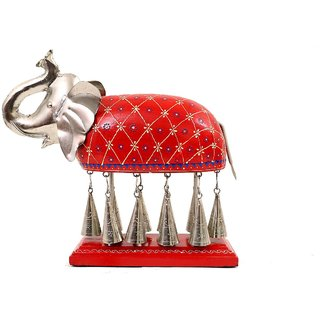 Creative Crafts Metal Statue Elephant with hanging bells Home Decorative Handicrafts Corporate/Diwali Gift  Showpiece