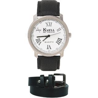KVELL Men's Watch with Black Belt  Combos-UMW-1235