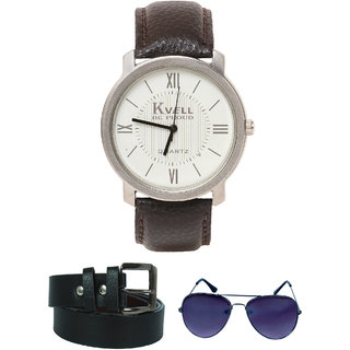 KVELL Men's Watch with Assorted es   Belt  Combos-UMW-1253