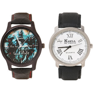 Kvell Be Proud Round Dial Black Analog Watch For Men -UMW-1044