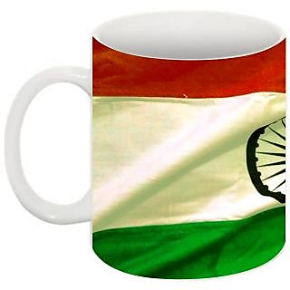 Abha Gaurav Creations Fine Independence Day Printed Coffee Mug