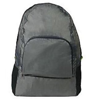 BagsHub Grey Waterproof Foldable Backpack (B0678-0001500081-V0013)