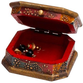 Gomati Ethnic Unique Wooden Jewellry Cosmastic Handicraft Box-3