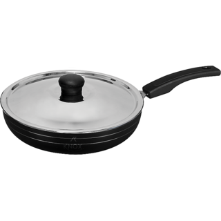 Knox NON STICK FRY PAN  WITH SS LID (Black)(24cm)