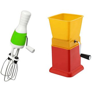 Multicolor Combo Of Plastic Hand Blender And Chilly Cutter By sanghoHub