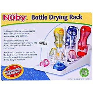 Nuby 8 Pack Bottle Drying Rack (White)