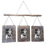 Fancy 3 Hanging Wooden Photo Frame Family Picture Album Image Holder Wall Décor