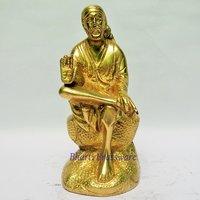 BSAI108 Brass Statue Of Lord Sai Baba