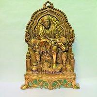 BSAI109 Brass Statue Of Lord Sai Baba