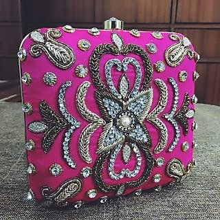 Women Metal Clutch