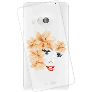 Snooky Printed transparent Silicone Back Case Cover For Microsoft Lumia 535