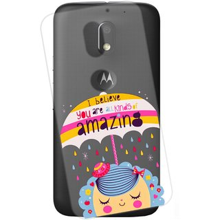 Snooky Printed transparent Silicone Back Case Cover For Motorola Moto E3