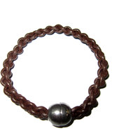 Cuero Brown Leather String Bracelet With Magnet Lock