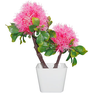 Sky Trends Pink Artificial Flower Pot For Home Decoration Style Cod004