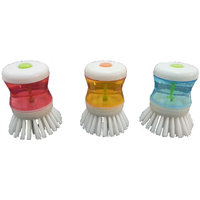 Set Of 3 Brush With Soap Dispensing