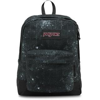 JanSport Black Label Superbreak Backpack Black Galaxy Plaid