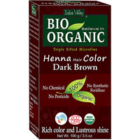 Indus Valley BIO Organic Dark Brown Henna Hair Color