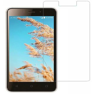 SNOOGG PACK OF 7 LYF Wind 6 8 GB Black Tempered Glass Screen Guard / Screen Protector ExPLLosion Proof