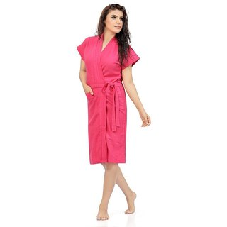 Be You Fashion Pink Cotton Bathrobe