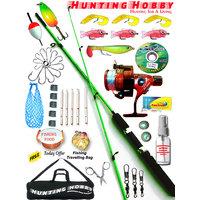 Fishing Rod,Reel,Accessories Complete Kit (6Feet Unbreakable FREE Travelling bag)