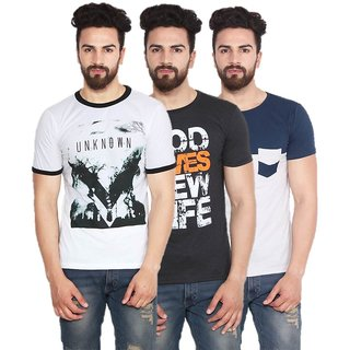 Stylogue Mens Casual Tshirt (Pack of 3)