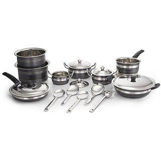 Mahavir 18 Pc HTR Coated Cookware Set