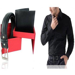 Gift Pack Men's Combo(1Shirt +1Wallet +1Belt)