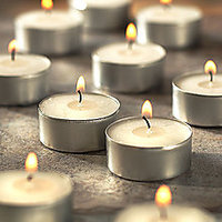 Set Of 10 Wax Tealight Candles