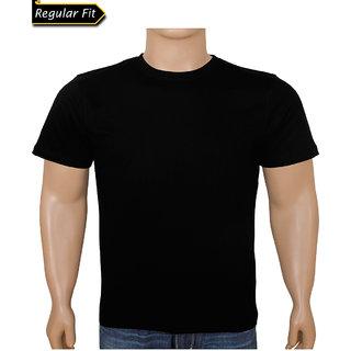 Men Black Round Neck Tshirt