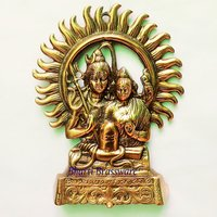 BWHG115 Black Metal Wall Hanging Of Lord Shiva(23x29cm,550gm Approx)